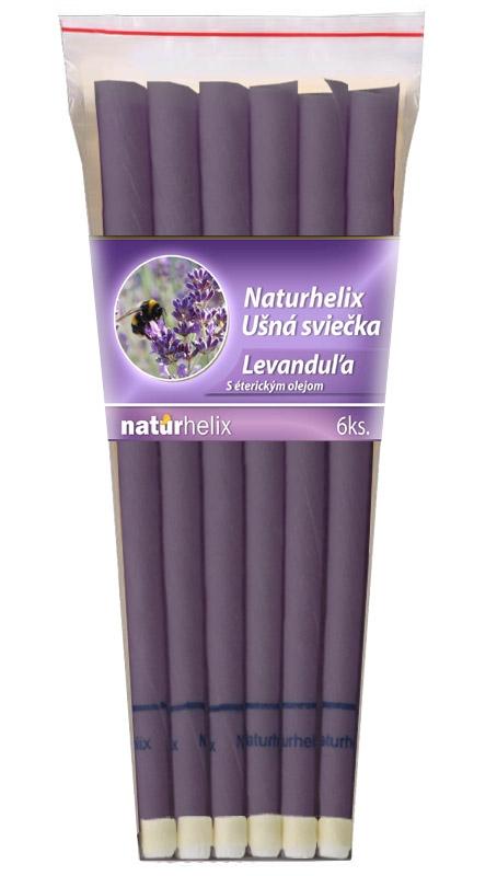 NaturheliX® Ušné sviečky LEVANDUĽA (set6)