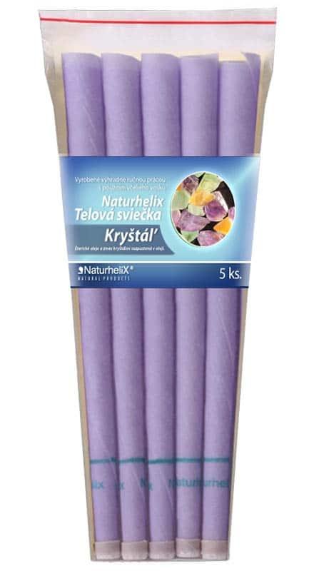 NaturheliX® Telové sviečky KRYŠTAL (set6)