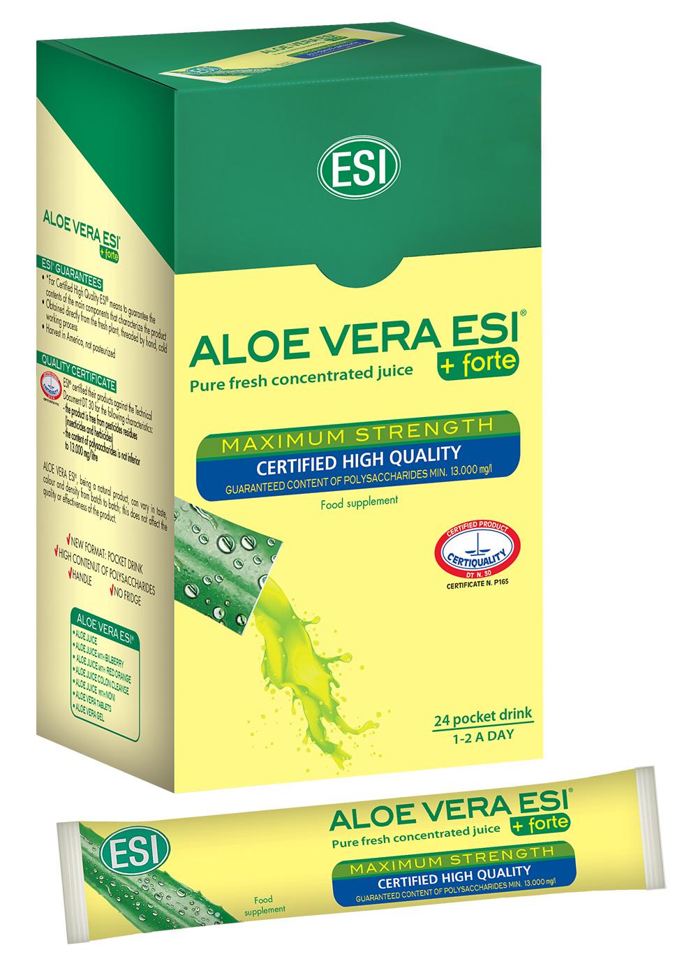 ESI Aloe Vera čistá šťava 24 ks x 20 ml