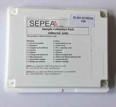 SEPEA ELISA SCREEN TEST 109 laboratórny test potravinovej intolerancie 1set