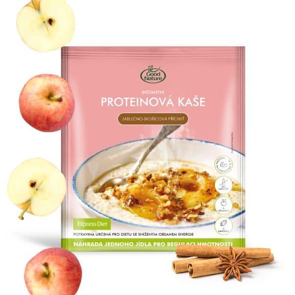 Kaša s jablkovo-škoricovou príchuťou Express Diet, 60 g