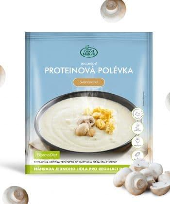 Proteínová polievka šampiónová
